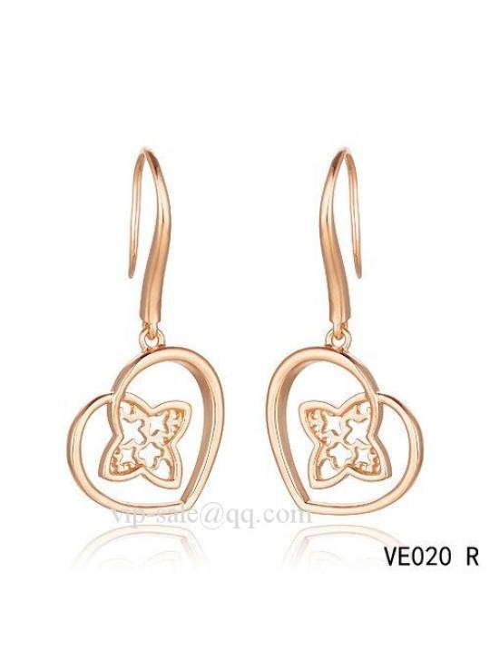 Louis Vuitton heart earrings in pink