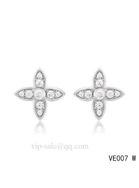 Louis Vuitton star earrings in white with diamonds