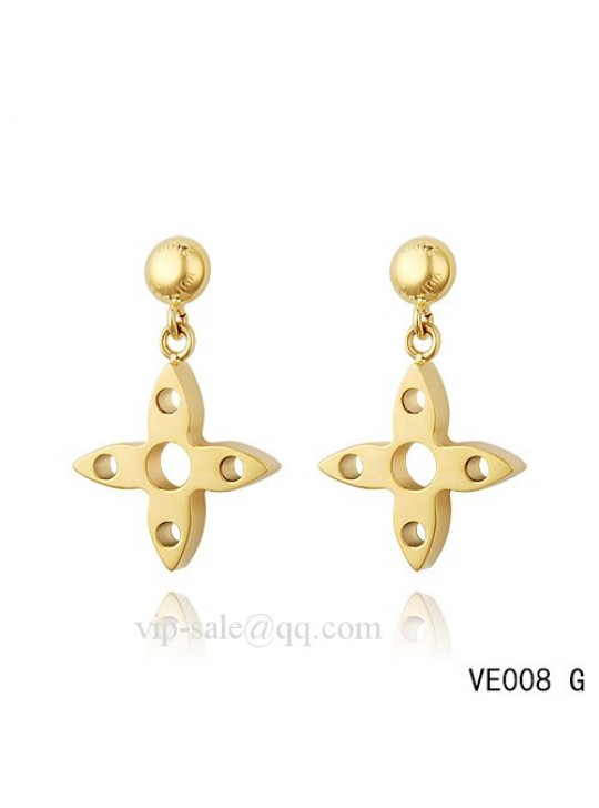 Louis Vuitton star hang earrings in yellow