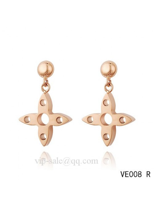 Louis Vuitton star hang earrings in pink