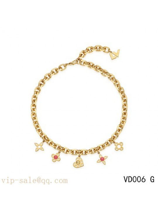 Louis Vuitton Monogram Necklace in yellow gold