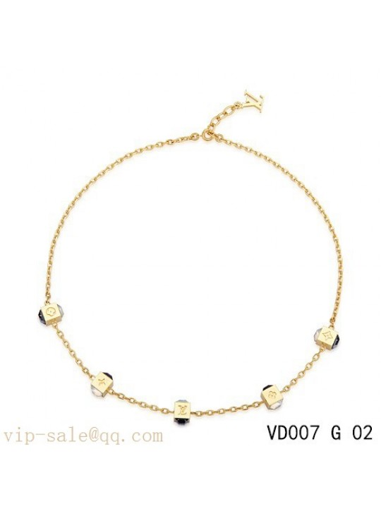 Louis Vuitton gamble necklace in yellow gold