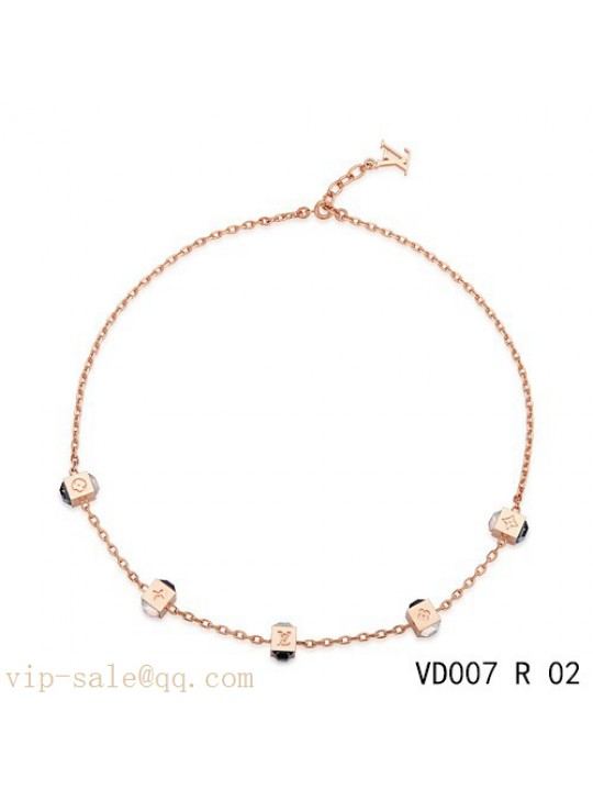 Louis Vuitton gamble necklace in pink gold