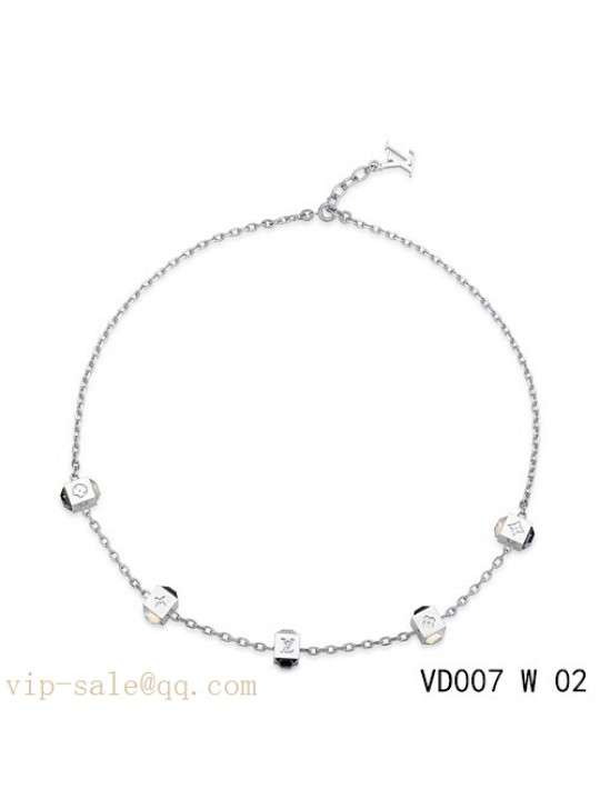 Louis Vuitton gamble necklace in white gold