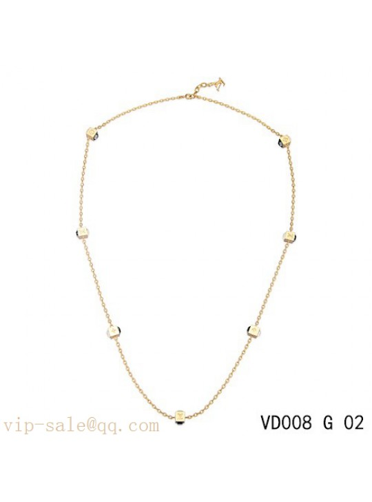 Louis Vuitton gamble long necklace in yellow gold