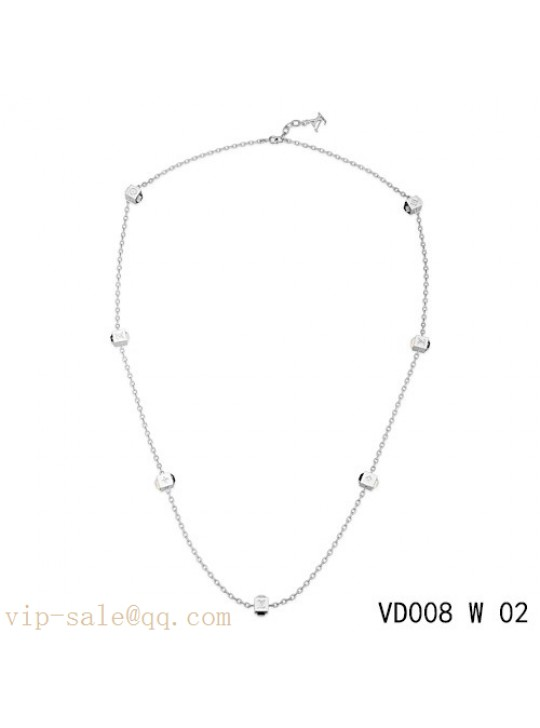 Louis Vuitton gamble long necklace in white gold
