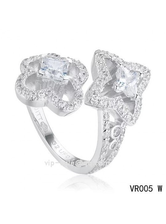 LES ARDENTES YOU & ME Ring with Louis Vuitton cut diamonds in the white gold