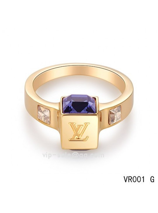 Louis Vuitton Gamble Ring in the yellow gold