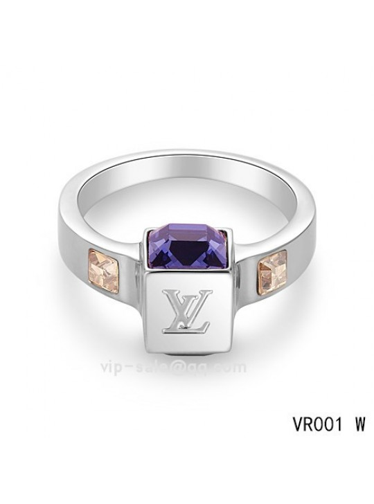 Louis Vuitton Gamble Ring in the white gold