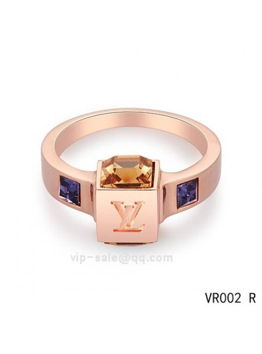 Louis Vuitton Bague Gamble Ring in the pink gold