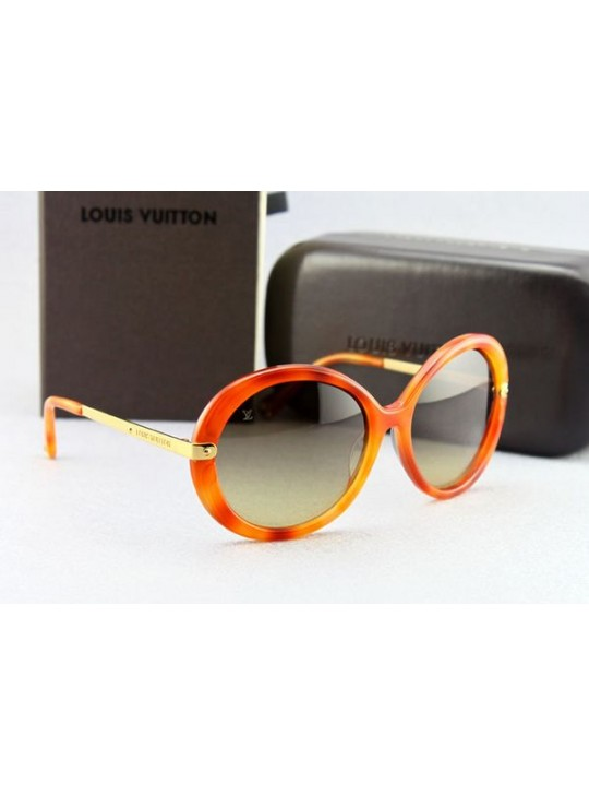 Louis vuitton hand-polished orange acetate sunglasses
