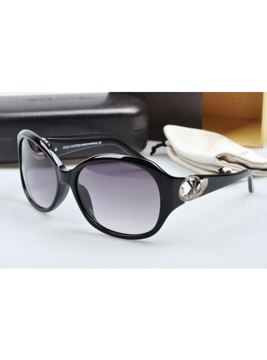 Louis vuitton sunglasses hand-polished acetate black frame