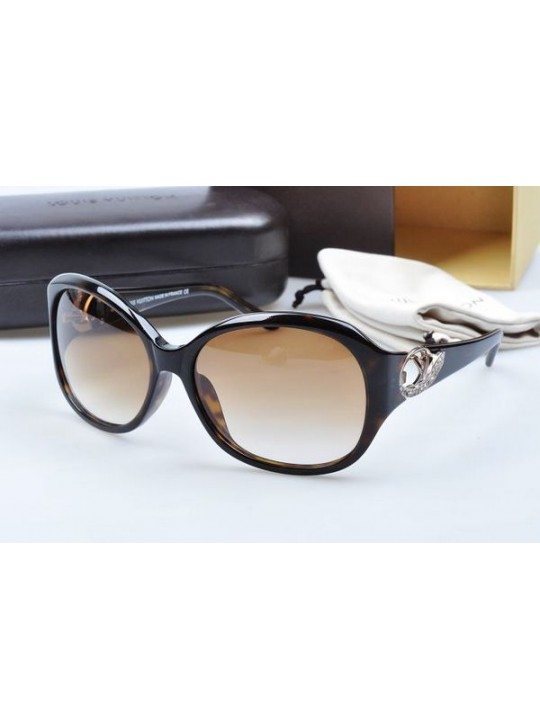 Louis vuitton sunglasses hand-polished acetate black & leopard frame