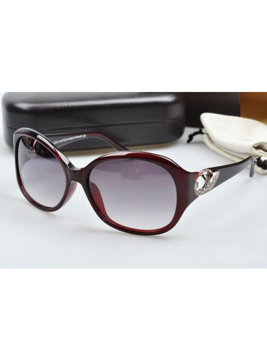 Louis vuitton sunglasses hand-polished acetate dark red frame