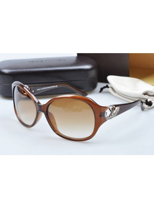 Louis vuitton sunglasses hand-polished acetate brown frame