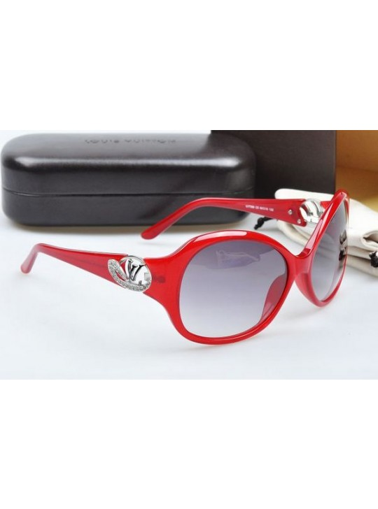 Louis vuitton sunglasses hand-polished acetate red frame