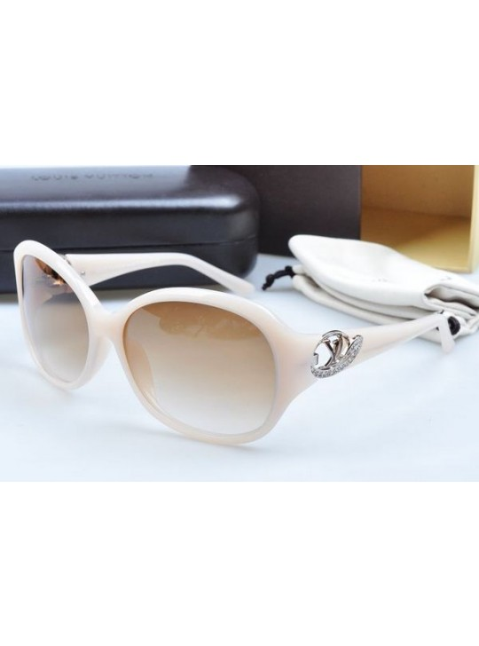 Louis vuitton sunglasses hand-polished acetate white frame