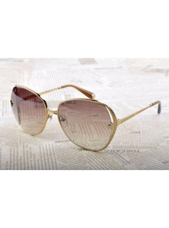 Louis vuitton sunglasses,gold metal frame