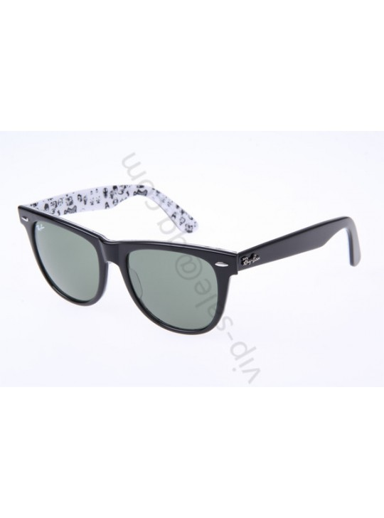 Ray Ban Wayfarer RB2140 54-18 People Sunglasses In Black White 1046