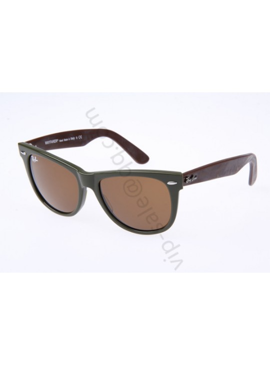 Ray Ban Wayfarer RB2140 54-18 Sunglasses in Green Wine 964