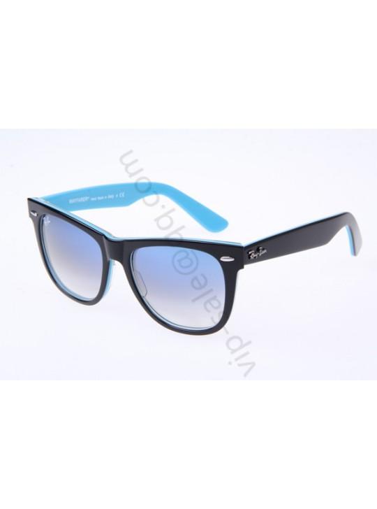 Ray Ban Wayfarer RB2140 54-18 Sunglasses in Black Blue 1001 32