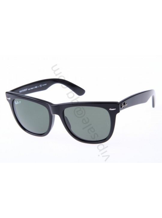 Ray Ban Wayfarer RB2140 54-18 Polarized Sunglasses In Black With Grey Lens 901 58