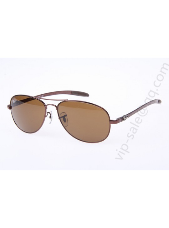 Ray Ban RB8301 Aviator Carbon Fiber Tech Sunglasses in Bronze Brown Lens