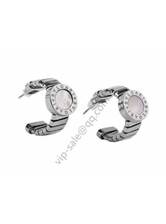 Bvlgari Earring in 18kt White Gold with Mother of Pearl