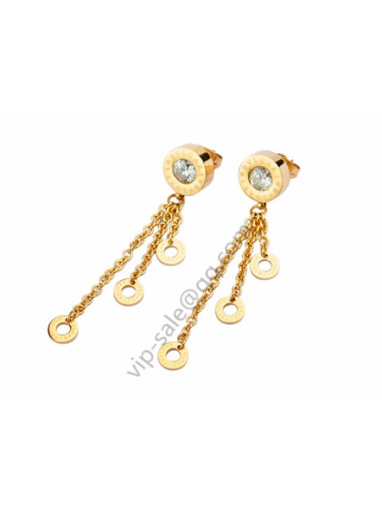 Bvlgari Charm Earrings in 18kt Yellow Gold