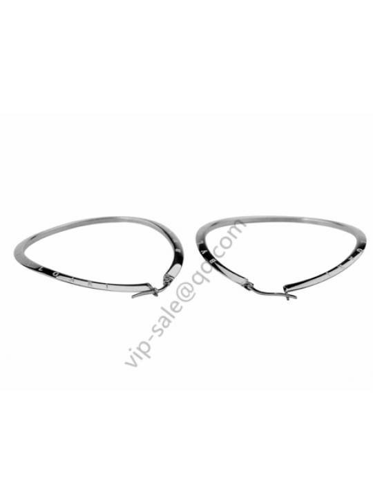 Bvlgari steel big earrings, repair face and fashion