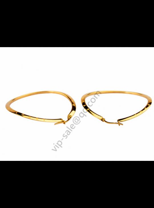 Bvlgari gold big earrings, repair face and fashion