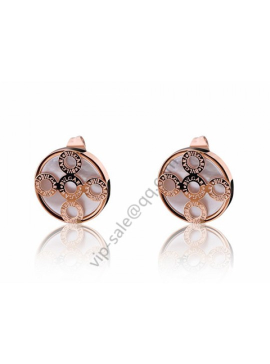 Bvlgari five round earrings in 18 kt ross gold wholesale