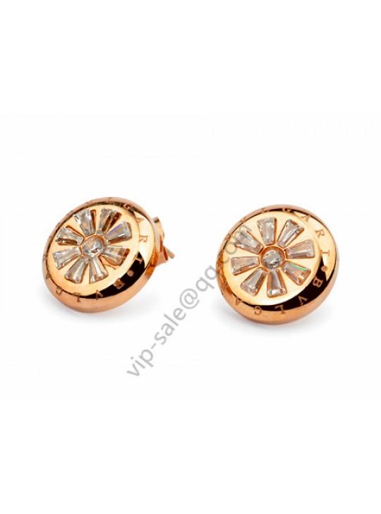 Bvlgari Plum flower earrings in 18 kt ross gold replica