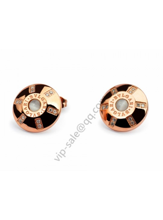 Bvlgari Oval earring in 18 kt ross gold outlet