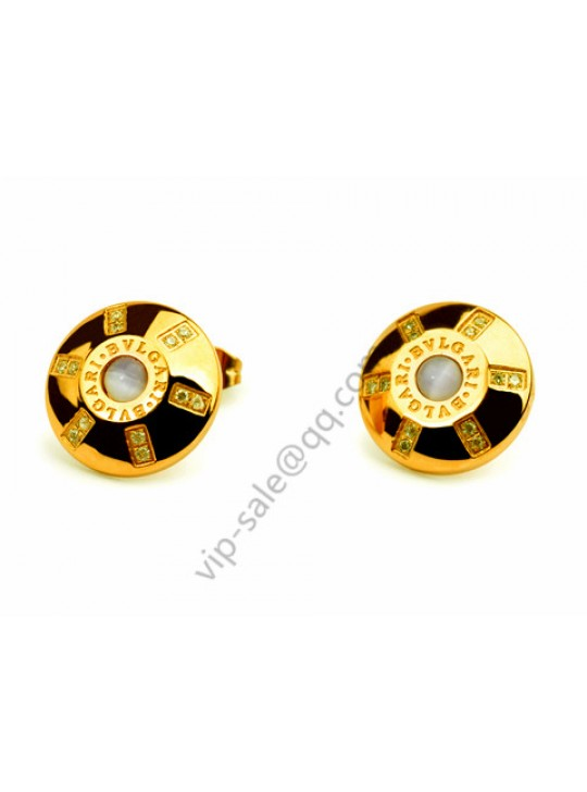 Bvlgari Oval earring in 18 kt yellow gold outlet