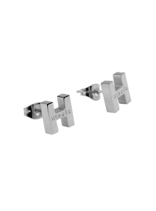 Hermes H Earrings in 18kt White Gold wholesale