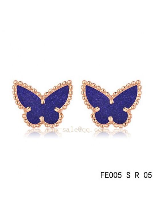 Van Cleef & Arpels Butterflies earrings in pink gold with Amethyst