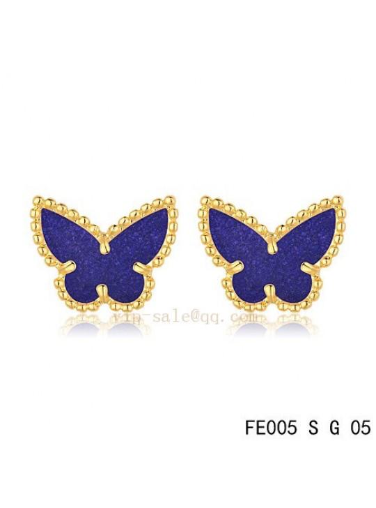 Van Cleef & Arpels Butterflies earrings in yellow gold with Amethyst