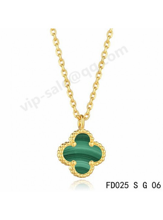 Van cleef & arpels Magic Alhambra necklace in yellow gold with Malachite
