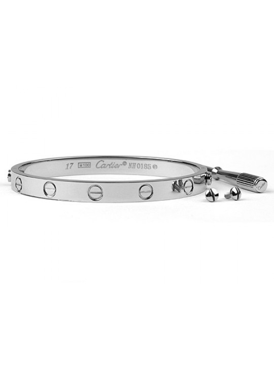 Cartier Love bracelet in white gold