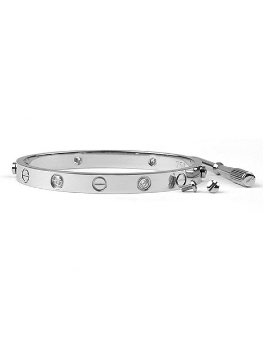Cartier Love bracelet in white gold with diamonds