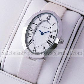 Replica AAA Cartier Baignoire Stainless Steel White Satin Strap Unisex Watch