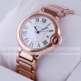 Replica Ballon Bleu de Cartier AAA Date Medium 18kt Rose Gold Bracelet Unisex Watches