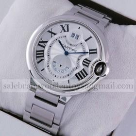 Replica Ballon Bleu de Cartier Knockoff Two Timezone Stainless Steel Mens Watches
