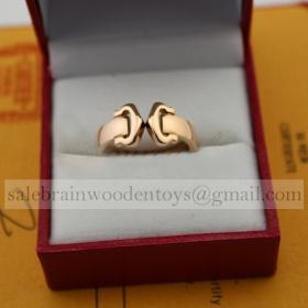 Replica Replica Cartier Double C Decor Ring Pink Gold for sale
