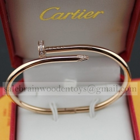 Replica Cartier Juste Un Clou Bracelet Pink Gold with Diamonds