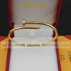 Replica Cartier Juste Un Clou Bracelet Yellow Gold Diamonds