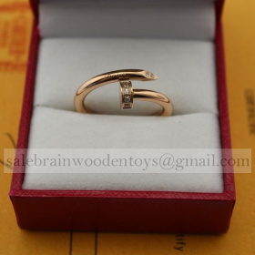 Replica Cartier Juste Un Clou Ring Pink Gold with Diamonds stainless steel