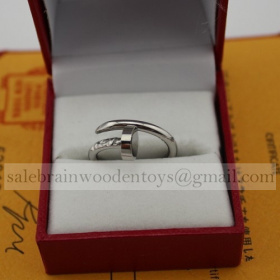 Replica Cartier Juste Un Clou Ring Replica White Gold Price