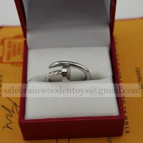 Replica Cartier Juste Un Clou Ring Replica White Gold Price